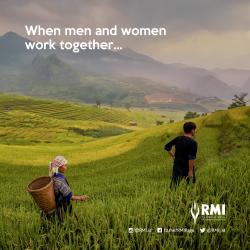 """""""Saat perempuan dan laki-laki berkerjasama, sebuah keseimbanganpun terjadi"""" Tanggung jawab yang dipikul bersama untuk menggerakan kesetaraan jender adalah kunci menuju keadilan sosial."""